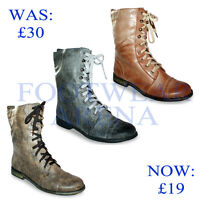 New Ladies Ankle Military Army Combat Lace Up Womens Boots Sizes UK 3 4 5 6 7 8