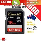 SanDisk 16GB Extreme PRO SD UHS-I 95MB/s 3D HD Video SDHC Memory Card UHS-1 NEW