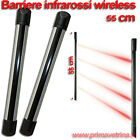 BARRIERA SENZA FILI BARRIERE WIRELESS 55 CM INFRAROSSI ALLARME ANTI INTRUSIONE