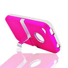 Aluminum Kick Stand Pink iPhone 4/4G Faceplate Phone Cover Hard Shell Case Skin
