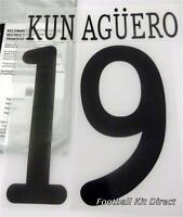 Manchester City Kun Aguero Uefa Champions League 2011/12 Football Shirt Name Set