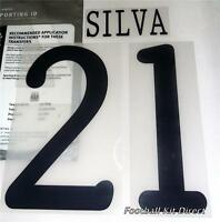 Manchester City Silva 21 Uefa Champions League 2011/12 Football Shirt Name Set