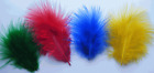 APPROXIMATELY 200 MARABOU FEATHERS *CHOICE OF COLOUR* CARD MAKING EMBELLISHMENTS