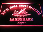 B0538 It's 5 pm Somewhere Landshark LED Light Sign