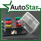 6 Way Blade Fuse Box 1 Positive Bus in 12v LED WARNING Kit Car Boat Marine Trike