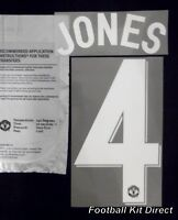 Manchester United Jones 4 2012/13 Uefa Champions League Football Shirt Name Set
