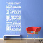 NEW HOUSE RULE WALL QUOTE DECAL for your home or business,H:125cm, W:55cm
