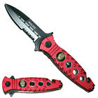 Red Police Rescue Pocket Knife Assit Opening Seat Belt Cutter Window Smasher