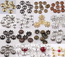 Wholesale 500Pcs Silver/Bronze Plated Flower Bead Caps Jewelry Findings 6mm