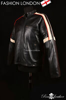 'WAR OF THE WORLDS' Black Men's Movie Film Real Leather Hollywood Action Jacket