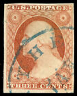 momen: US Stamps #11A Used STITCH Watermark Bottom Margin VF/XF