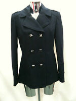 Women Ladies New Navy Blue Smart Double Breasted Coat (Sizes 8 - 16)