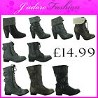 NEW LADIES LACE UP ARMY MILITARY COMBAT BIKER RETRO ANKLE BOOTS SIZES UK 3-8