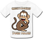 MONKEY PERSONALISED KIDS T-SHIRT - GREAT GIFT FOR ANY CHILD & NAMED TOO