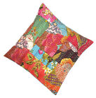 """10 Kantha Pillows cushion covers cotton Patch work 16"""" wholesale CU-14"""
