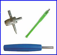 NEW TYRE VALVE PULLER - REPAIR TOOL - VALVE CORE REMOVER TOOL KIT