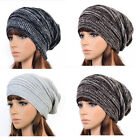 New Unisex Hip-hop Style Winter Baggy Beanie Knit Crochet Bowknot Hats 4 Color
