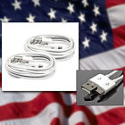 2X 3FT MICRO USB DATA SYNC CHARGER CABLE WHITE DROID HTC EVO ONE NEXUS 7 KINDLE