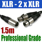 XLR SPLITTER 1.5M | 1 x MALE to 2 x FEMALE CABLE | 259