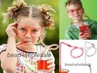 Funny Flexible Soft Glasses Silly Drinking Straw Glasses For Kids Party