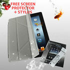 iPad 2 3 4 Magnetic Smart Cover Transformer Case Basketball Pattern Grey