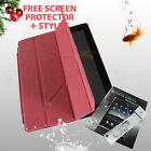 iPad 2 3 4 Magnetic Smart Cover Transformer Case Basketball Pattern Pink