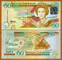 Eastern East Caribbean, $50, 2012, P-50-New upgraded version, UNC