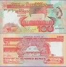 """Seychelles 100 Rupees Banknote 1989 Uncirculated Condition Cat#35-2616""""Girl"""""""