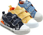 KIDS BOYS PLIMSOLE CANVAS CASUAL PUMPS VELCRO RUNNING TRAINERS SHOES SIZE NEW