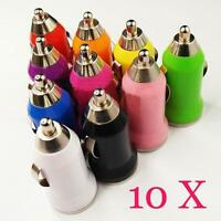 10 X Mini Car Cigarette Lighter to USB Charger Adapter for MP3 USB Car Charger