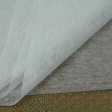 2m Iron On Interfacing Light Weight 100cm Wide Fusible Fabric DIY