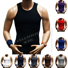Men's 100% Premium Cotton A-Shirt Top Quality Muscle Ribbed Wife Beater/Tank Top