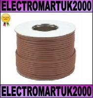 RG6 DIGITAL TV AERIAL FREEVIEW COAX CABLE BROWN 100M