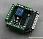 6 Axis CNC Stepper Motor Driver Board MACH3 Interface Breakout Board Adapter