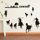 Cowboys Wall Decor Vinyl Decal Sticker Removable Nursery Kids Art Mural Window