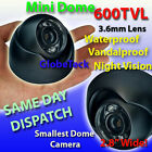 MINI DOME METAL OUTDOOR WATERPROOF CCTV INFRARED DAY NIGHT CAMERA SONY 600TVL!