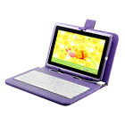 "8GB 7"" Google Android 4.0 Tablet PC Cortex A8 Dual Cameras Keyboard Case Purple"