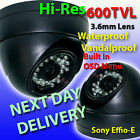 DOME METAL OUTDOOR WATERPROOF CCTV CAMERA CCD SONY EFFIO-E 600TVL + NIGHT VISION