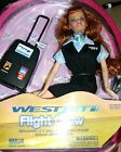 Flight Attendant Doll WestJet Airlines RARE Redhead w Backpack & Accessories New