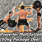 POWERTEC Multi System + 150kgs Weights WB-MS14 PACKAGE Home Gym