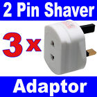 3 x 2 to 3 Pin 1A Fused Electric Toothbrush Shaver Travel Adaptor Adapter Plug