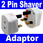 2 Pin to 3 Pin 1A Fused Electric Toothbrush Shaver Travel Adaptor Adapter Plug