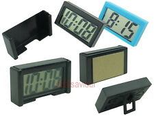 Small LCD Digital Clock Date Detachable Casing Mount