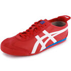 Onitsuka Tiger Mexico 66 Neu Herren Leder Sneakers Schuhe in Rot Weiss