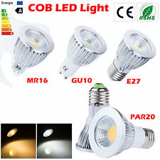 MR16 GU10 E27 PAR20 Dimmable LED COB Spot Down light lamp bulb 6W 9W 12W White