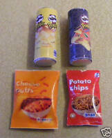 1:12 Scale Four Snack Packets Miniature Dolls House Food Accessories