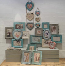 Vintage Chic Multi marco Picture Collage Marcos De Fotos Corazón Shabby Madera Pared