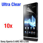 10x Ultra Clear Screen Protector Film for Sony Ericsson Xperia S ARC HD LT26i