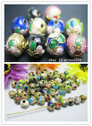 Free 10~100pcs mixed color cloisonne Fit Charms Bracelet Spacer Beads 6mm 10mm