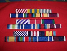 MEDAL RIBBON BAR - 3 SPACE FULL SIZE - PINNED or STUDDED or SEWN